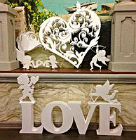 Свадебные Декорации из Пенопласта Объемные Большие буквы цифры на свадьбу, слова з пінопласту, фото 1