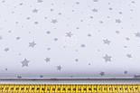 "Отрез ткани ""Звездопад"" серый на белом фоне, №1169а, размер 85*160, фото 3"