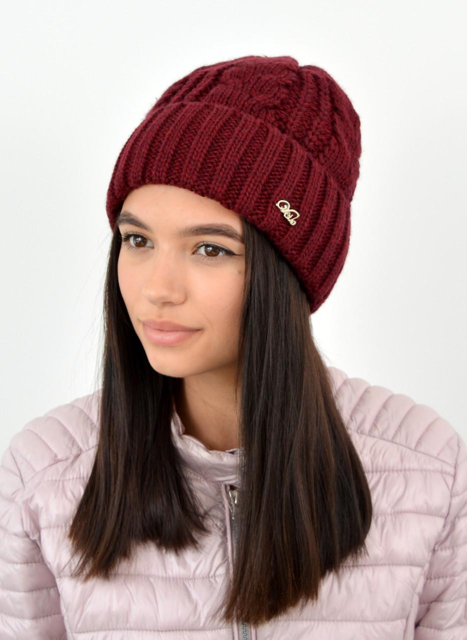 Женская шапка veilo 3383 марсала
