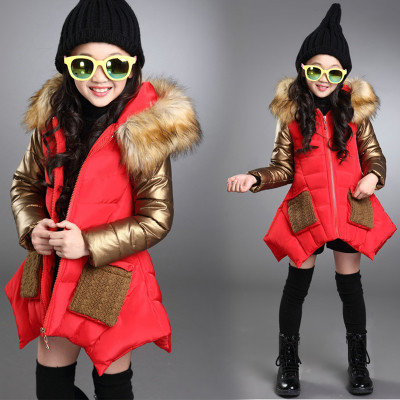 Детская куртка на девочку с кожаными рукавами