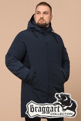 Мужская удлиненная синяя зимняя куртка Braggart (р. 46-56) арт. 23425D