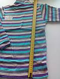 Водолазка полосатая 230219407, рост 140-146 размер 76 / сиреневый-беж-серый-голубой, фото 2