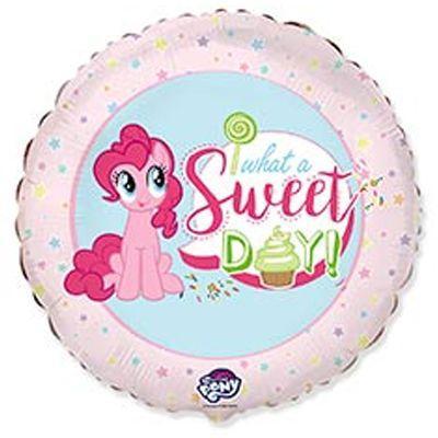 """Фольгированные шары с рисунком 18"""" what a sweet day пони FlexMetal"""