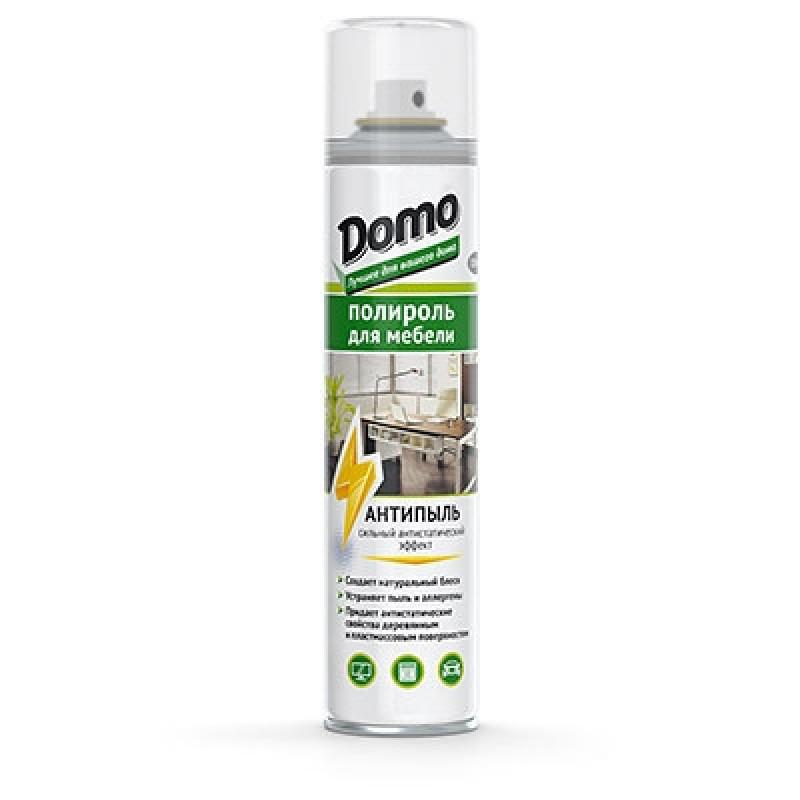 Поліроль для меблів аерозоль Domo 320мл антипил