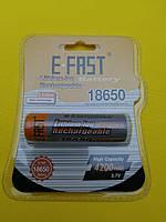 Аккумулятор 18650 E-FAST 4200мАч 3,7В