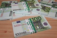 Сувенирная шуточная пачка денег - 100 евро