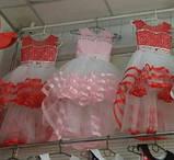 Дитяча сукні видовжене ззаду на худеньку дівчинку 104-116, фото 2