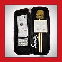 Беспроводной микрофон караоке bluetooth Q7 золотой, фото 2