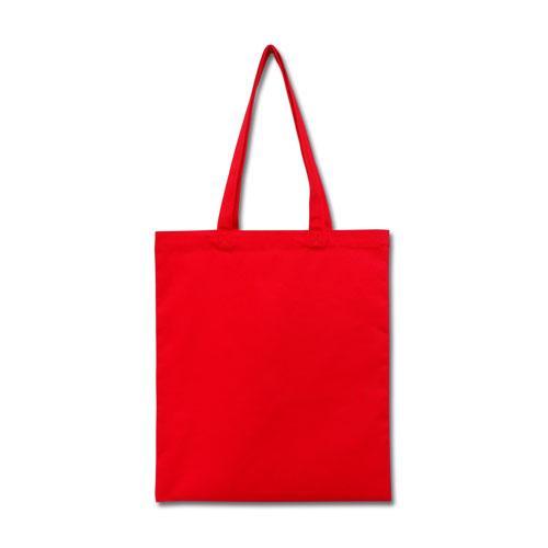 Эко-сумка из хлопка красная (35х41 см.), шоппер, сумка для покупок