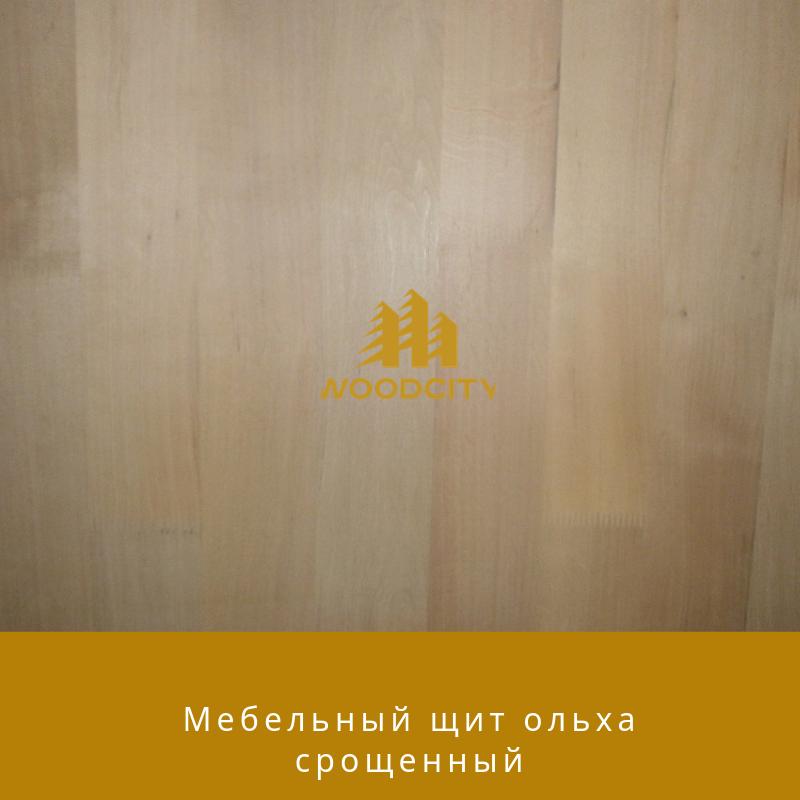 Мебельный щит Срощенный Ольха 38 мм сорт А-В