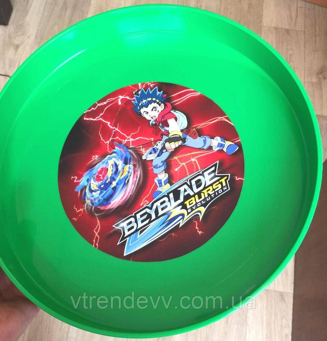 Арена круглая Бейблэйд Beyblade 35 см салатовая