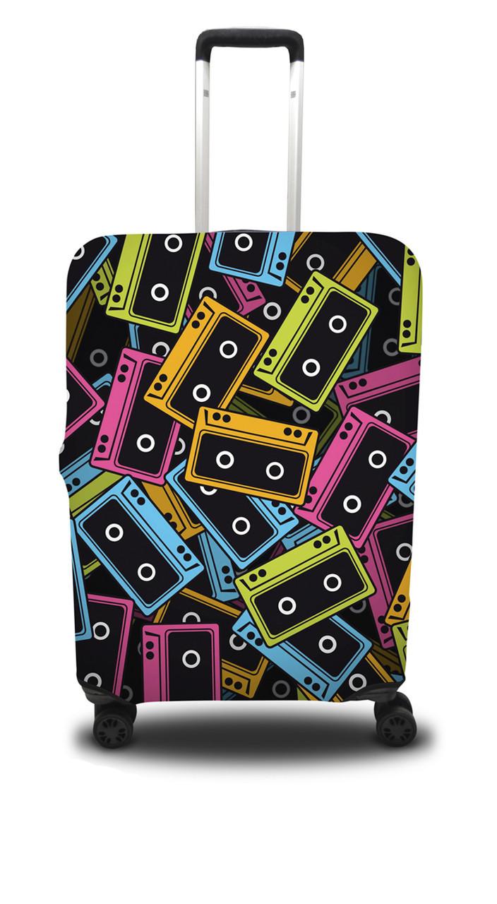 Чехол для чемодана Coverbag кассеты S оранжево-голубой