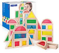 Набор стандартных блоков Большая радуга Block Play Guidecraft 30 шт. (G3016), фото 1