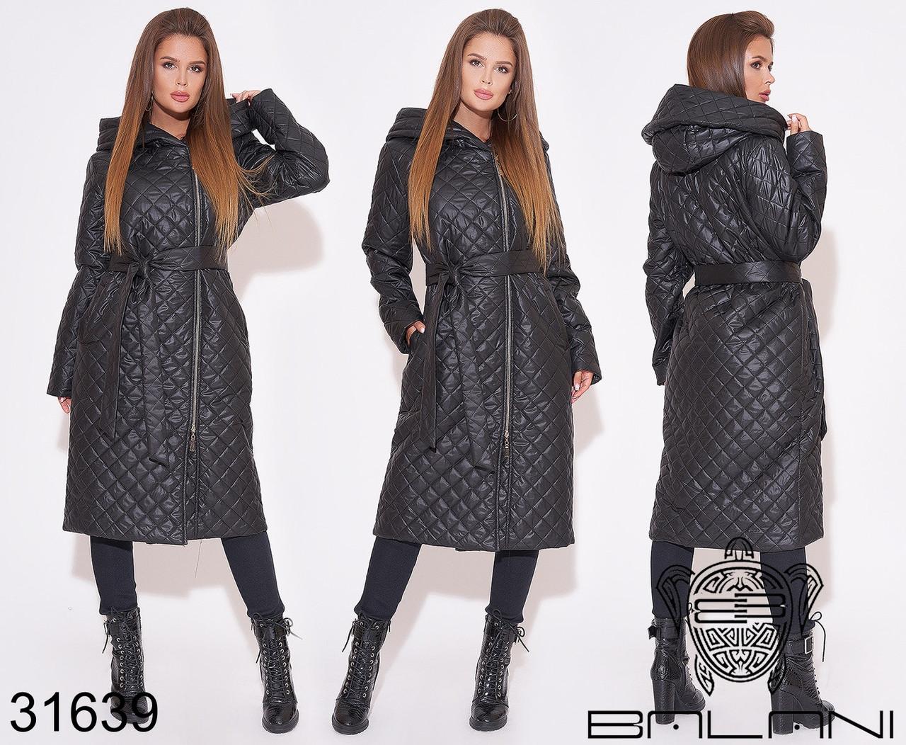 Женское стеганное пальто раз. 42,44,46