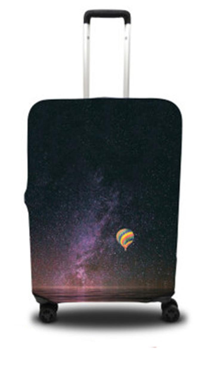 Чехол для чемодана Coverbag звездное небо L черный с принтом