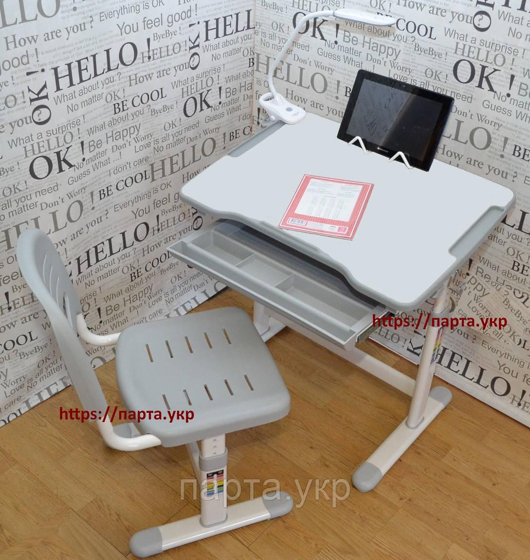 Растущая парта,стул подставка для книг, настольная светодиодная лампа