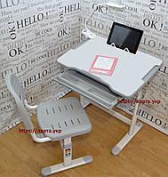 Растущая парта,стул подставка для книг, настольная светодиодная лампа, фото 1
