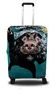 Чехол для чемодана Coverbag собака L черный