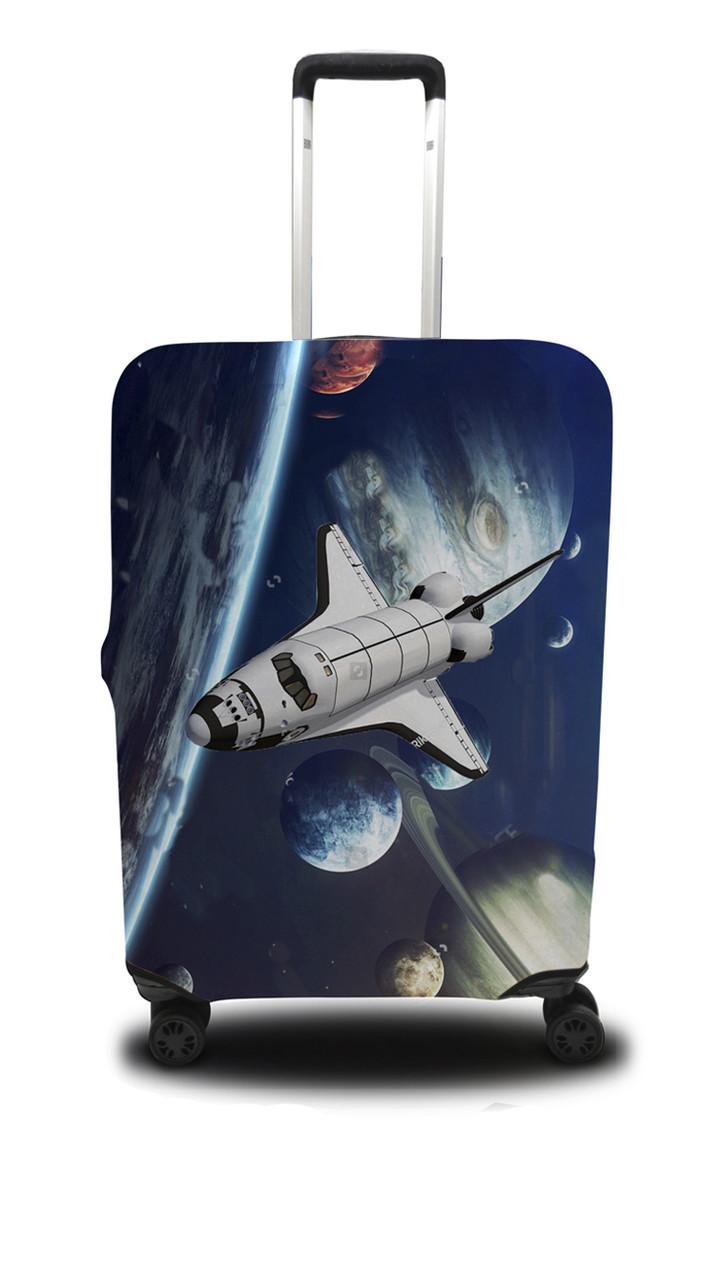 Чехол для чемодана Coverbag шатл L сине-черный