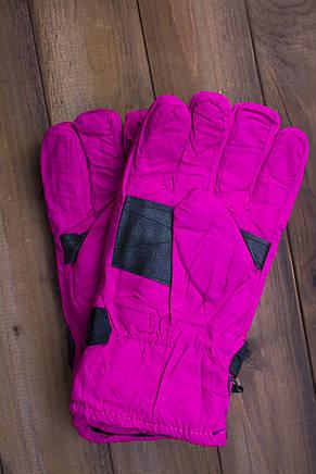 Лыжные перчатки 2001-6 малиновые, фото 2