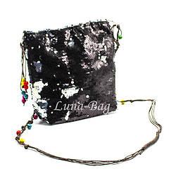 """Детская сумка с пайетками """"Beads""""  5 Цветов Черный (Размер: 20*23*5)"""