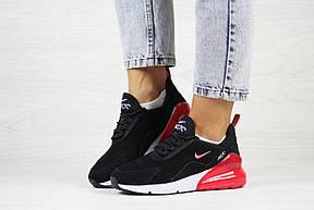 Замшевые женские кроссовки Nike Air Max 270,черно-белые с красным 37,39р, фото 2