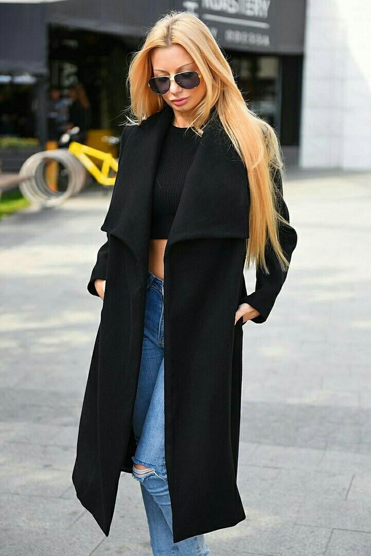 Женское стильное пальто  ВХ8081
