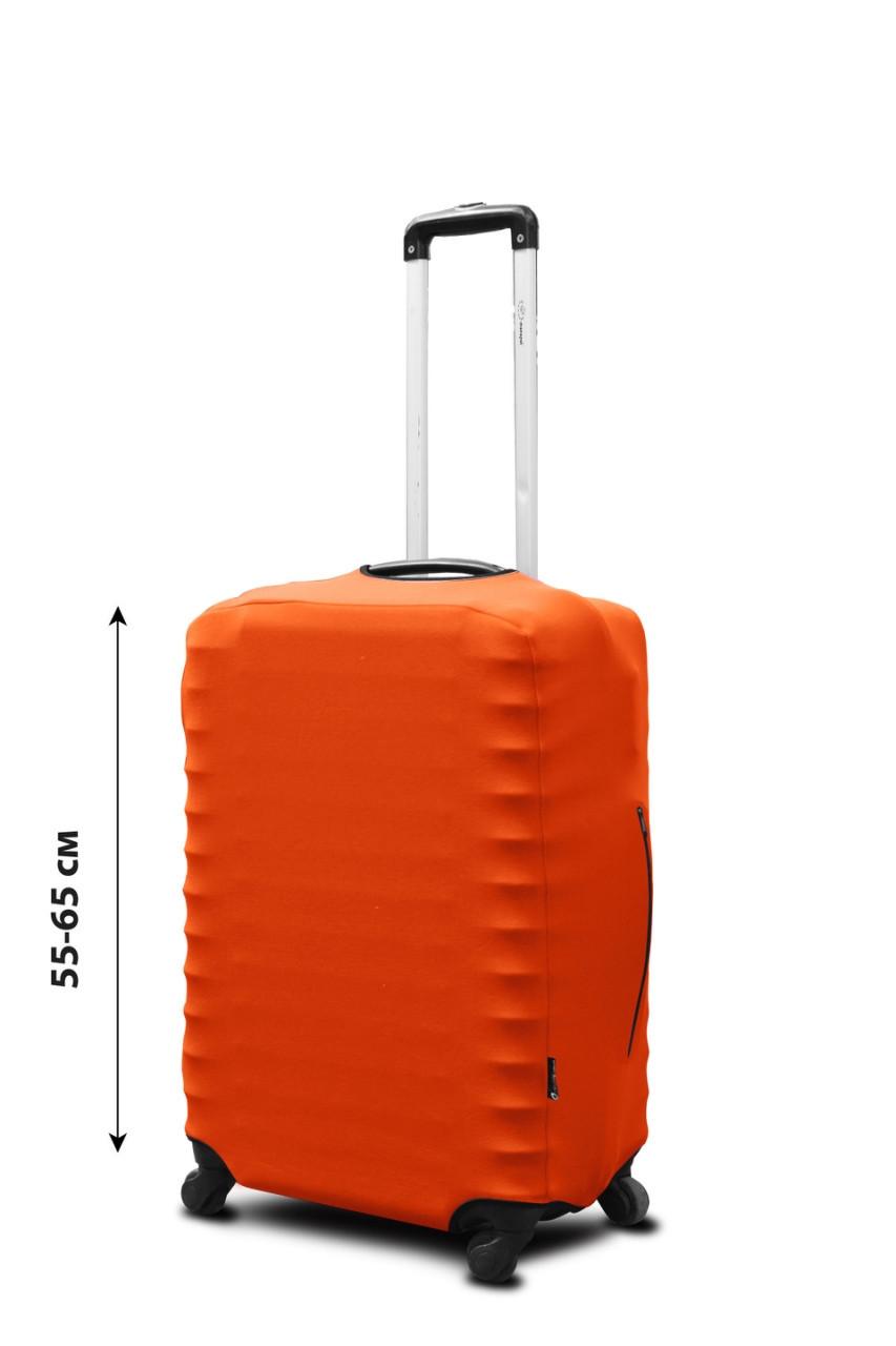 Чехол для чемодана Coverbag неопрен  M оранжевый