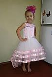 Дитяча сукні видовжене ззаду на худеньку дівчинку 104-116, фото 5