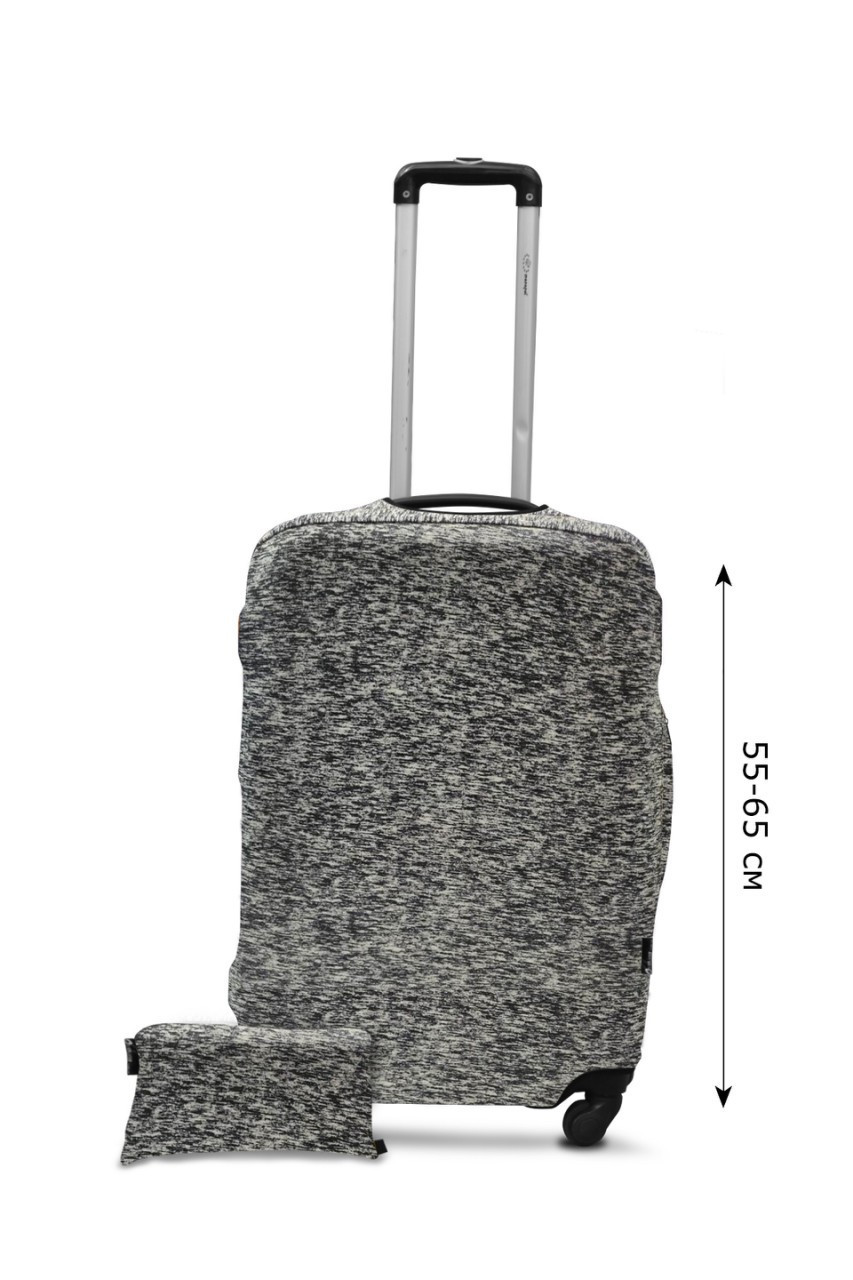 Чехол для чемодана  Coverbag дайвинг  M серый меланж
