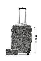 Чехол для чемодана  Coverbag дайвинг  M серый меланж, фото 1