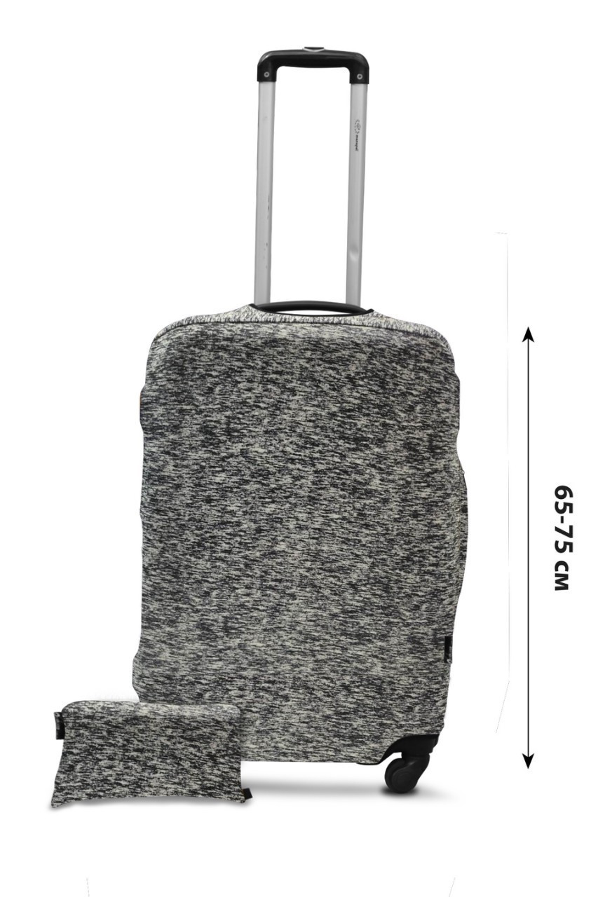 Чехол для чемодана  Coverbag дайвинг L серый меланж