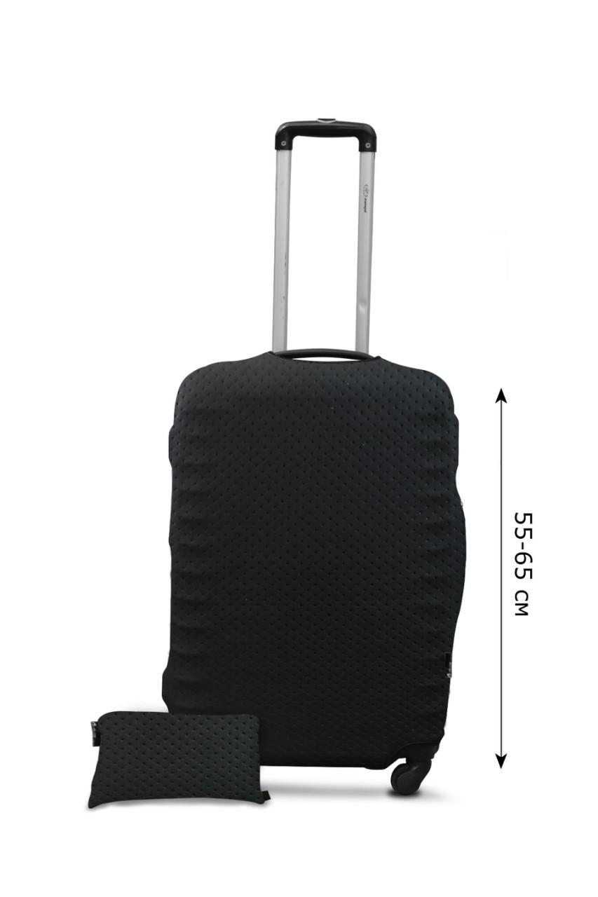 Чехол для чемодана Coverbag неопрен Strong Mточки черные