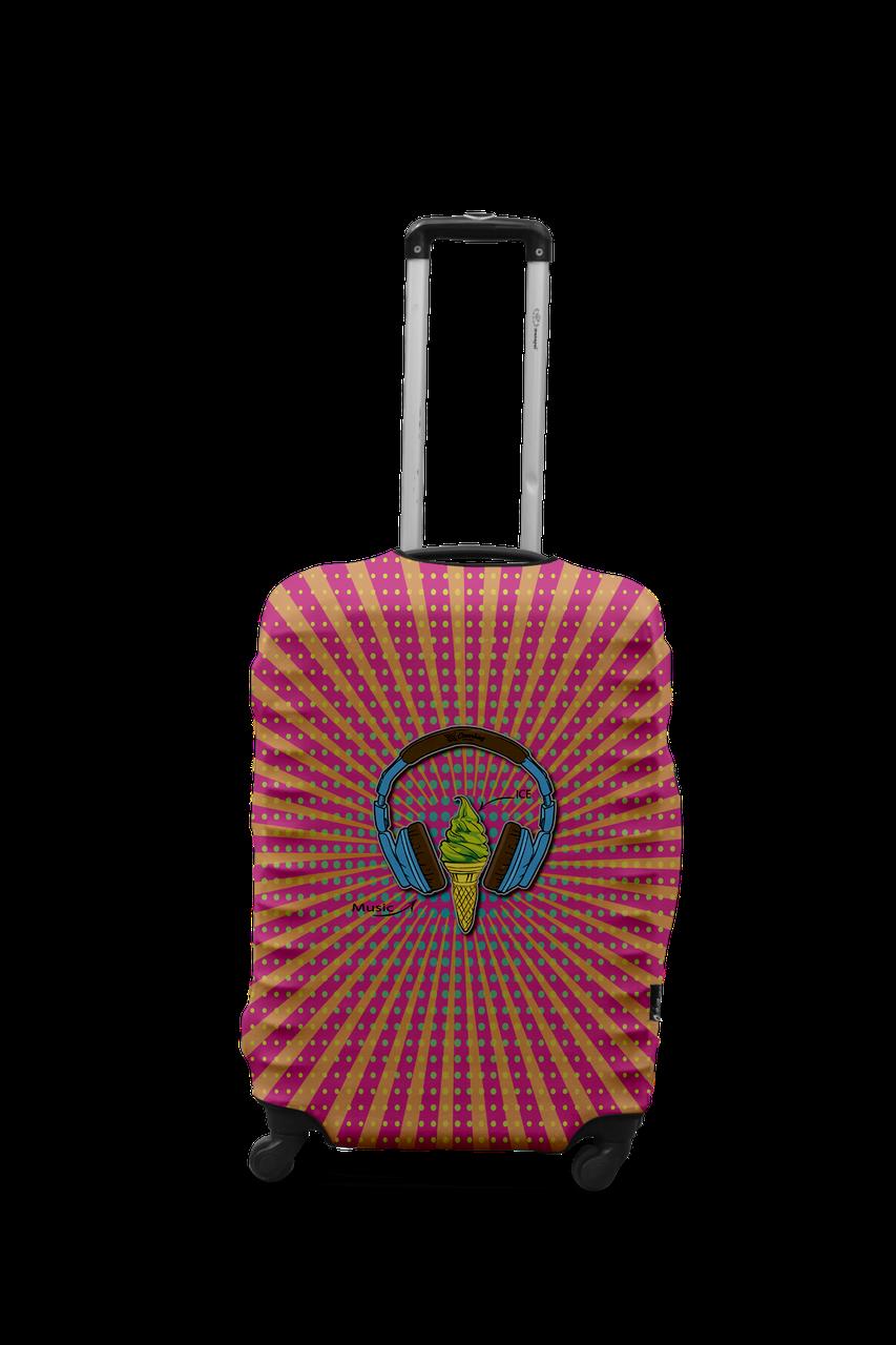 Чехол для чемодана Coverbag наушники S разноцветный