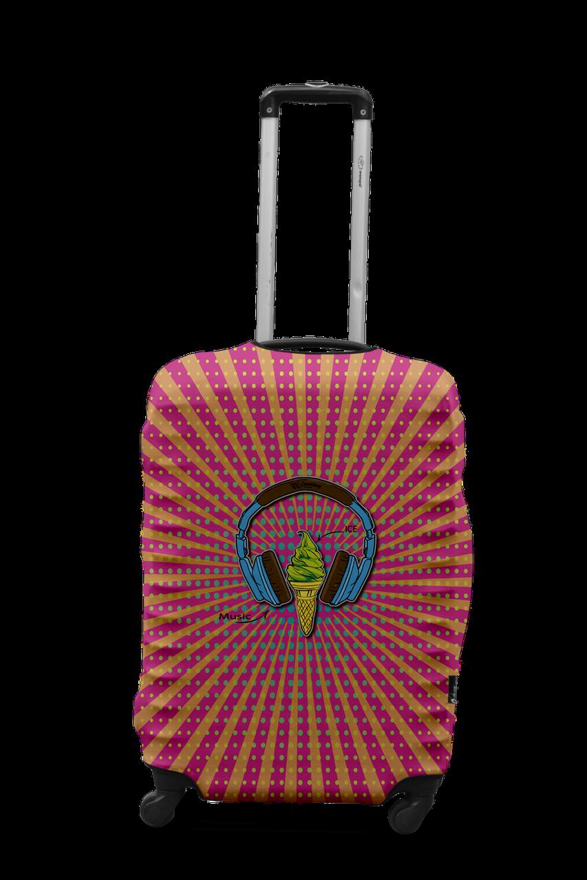 Чехол для чемодана Coverbag наушники M разноцветный