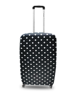 Чехол для чемодана Coverbag  неопрен  M горох черный