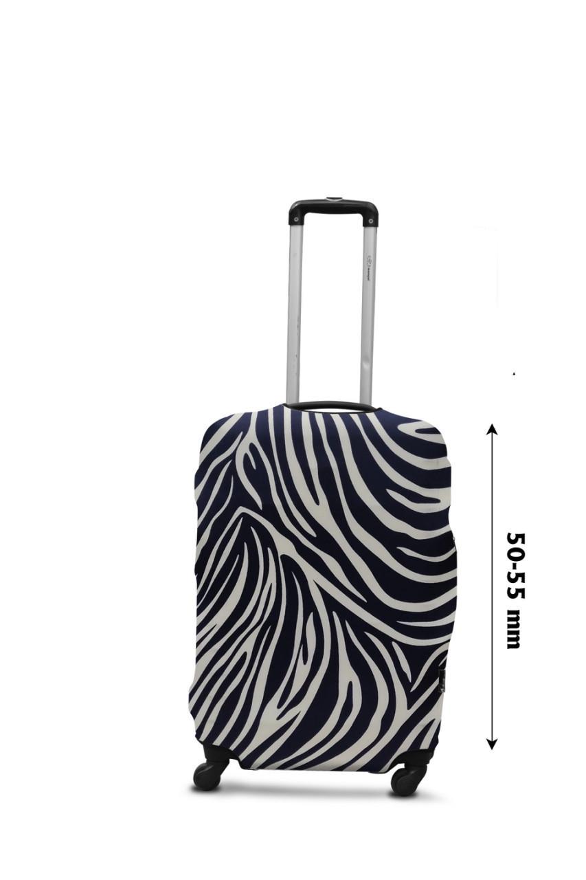 Чехол для чемодана  Coverbag  дайвинг  S  зебра разноцветный