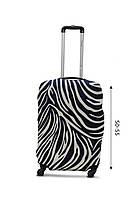 Чехол для чемодана  Coverbag дайвинг  M зебра разноцветный