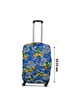 Чехол для чемодана  Coverbag  дайвинг  S лимон разноцветный