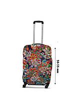 Чехол для чемодана  Coverbag  дайвинг  S  павлин разноцветный, фото 1