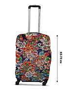 Чехол для чемодана  Coverbag дайвинг L павлин разноцветный, фото 1
