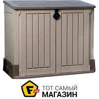 Садовый шкаф - пластик, полипропилен - Keter Store-It-Out Midi бежевый/коричневый (17197662580)