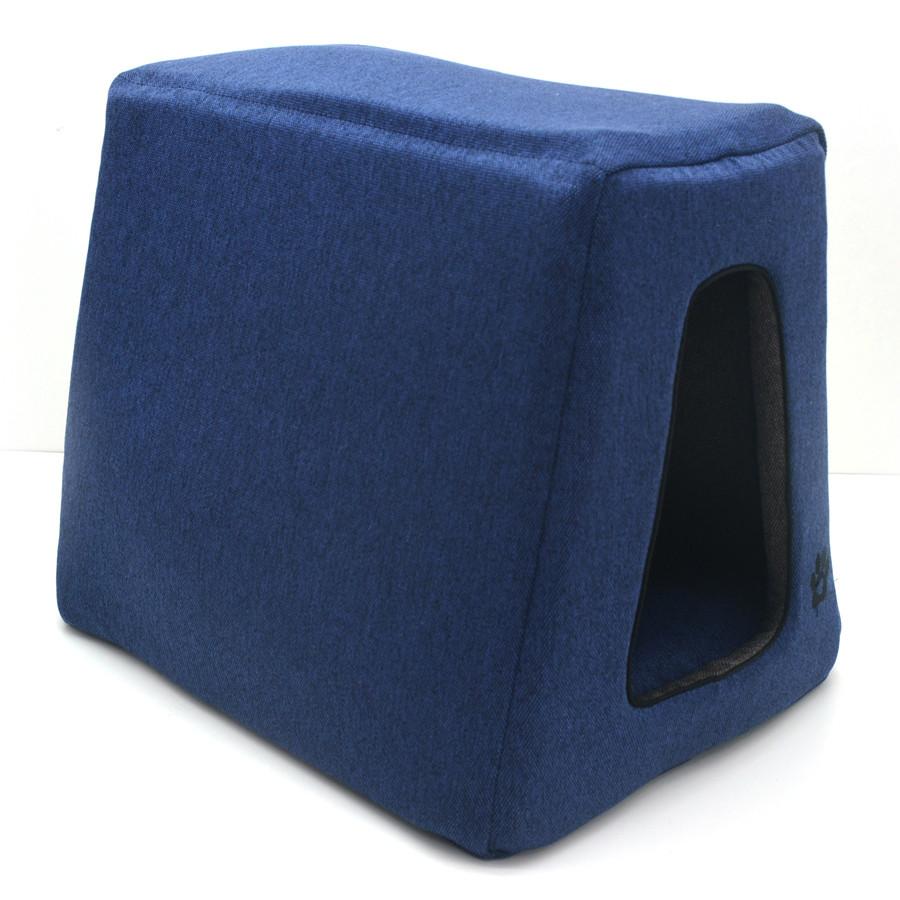 Домик пирамида для котов и собак Loft №2 30х40х35 см сине-серый