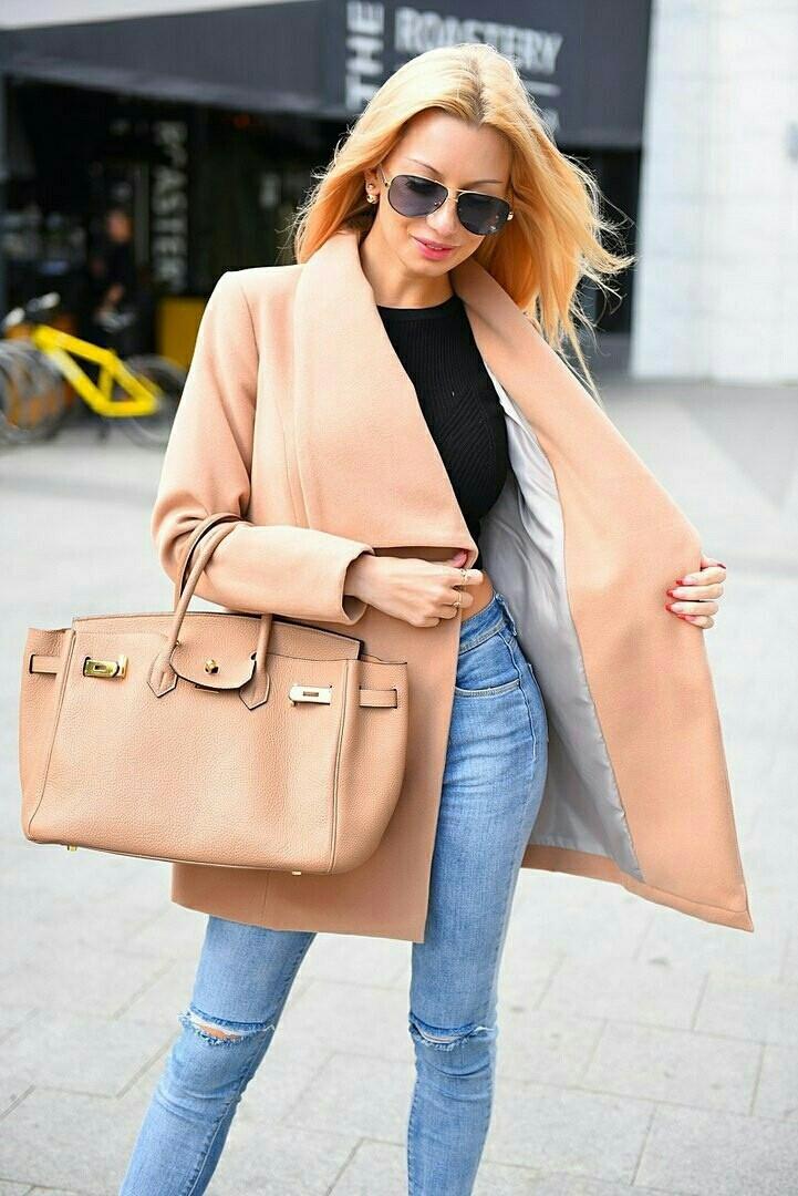 Женское модное укороченное пальто  ВХ8080