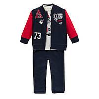 Спортивный костюм (джемпер, толстовка и брюки)  для мальчика MEK (р. 86-98 )  193MDEP003-286