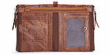 Мужской кошелек из натуральной кожи. Кожаный кошелек мужской портмоне из кожи Коричневый, фото 3