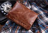 Мужской кошелек из натуральной кожи. Кожаный кошелек мужской портмоне из кожи Коричневый, фото 7