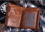 Мужской кошелек из натуральной кожи. Кожаный кошелек мужской портмоне из кожи Коричневый, фото 5