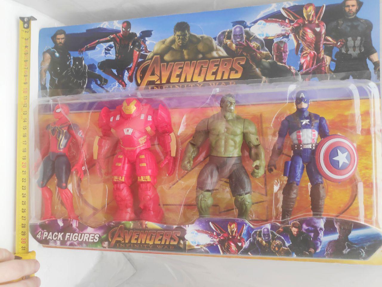 Набор супергерои Марвел: Паук, Халк, Капитан Америка, Железный Человек