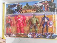 Набор супергерои Марвел: Паук, Халк, Капитан Америка, Железный Человек, фото 1
